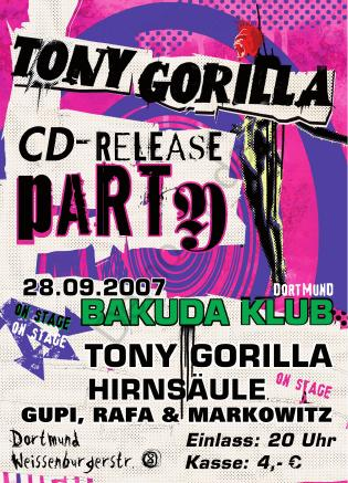 Tony Gorilla - CD Release Party